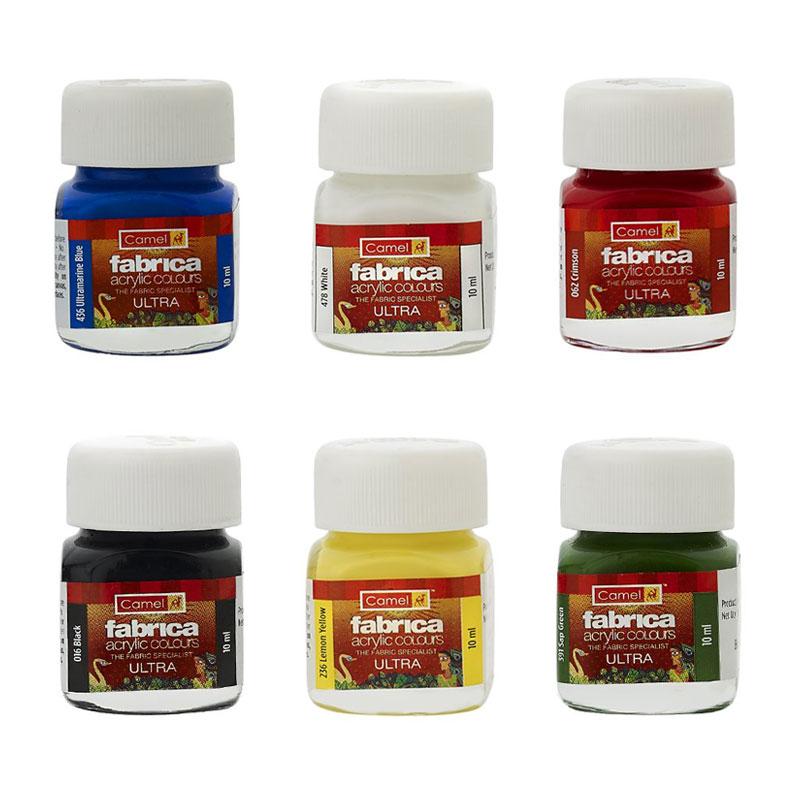 Camel Fabrica Acrylic Colours 6 Shades -