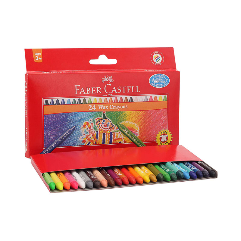 Faber-Castell Wax Crayons 24 Shades -