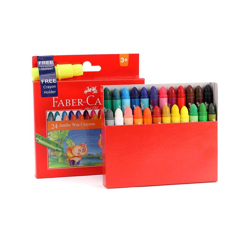 Faber-Castell Wax Crayons 24 Shades Jumbo -