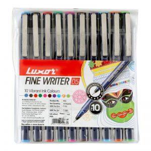 Luxor Finewriter Colour Pen (Set of 10) -