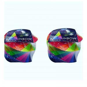 Youva Rainbow Spiral Paper Cube -