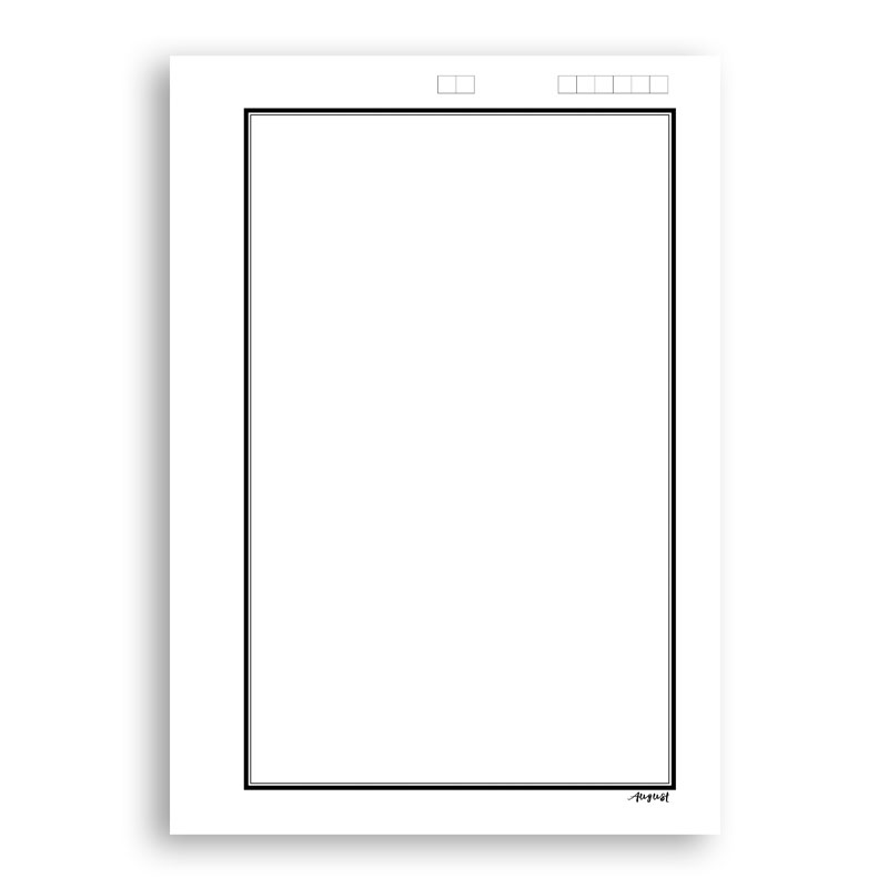 Border Paper for Assignment/Project A4 Size -