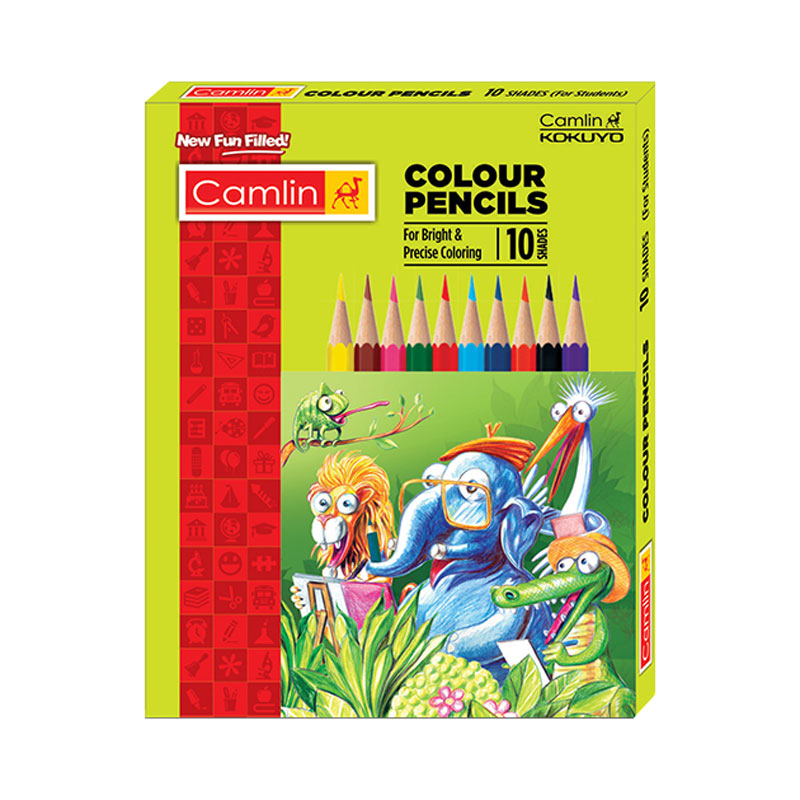 Camel Colour Pencil Half Size 10 Shades -
