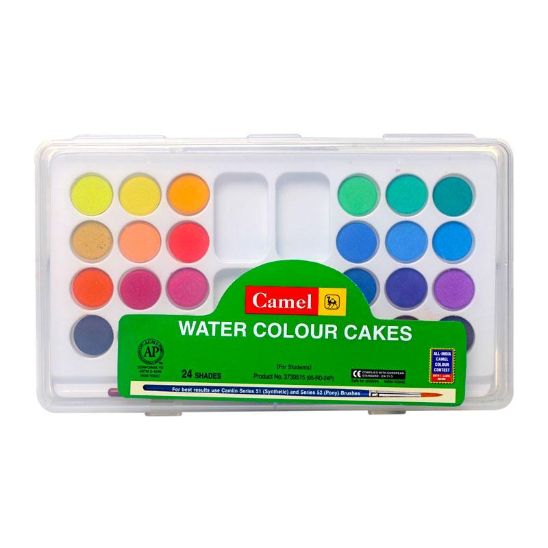 Camel Watercolour Cake 24 Shades (Box) -