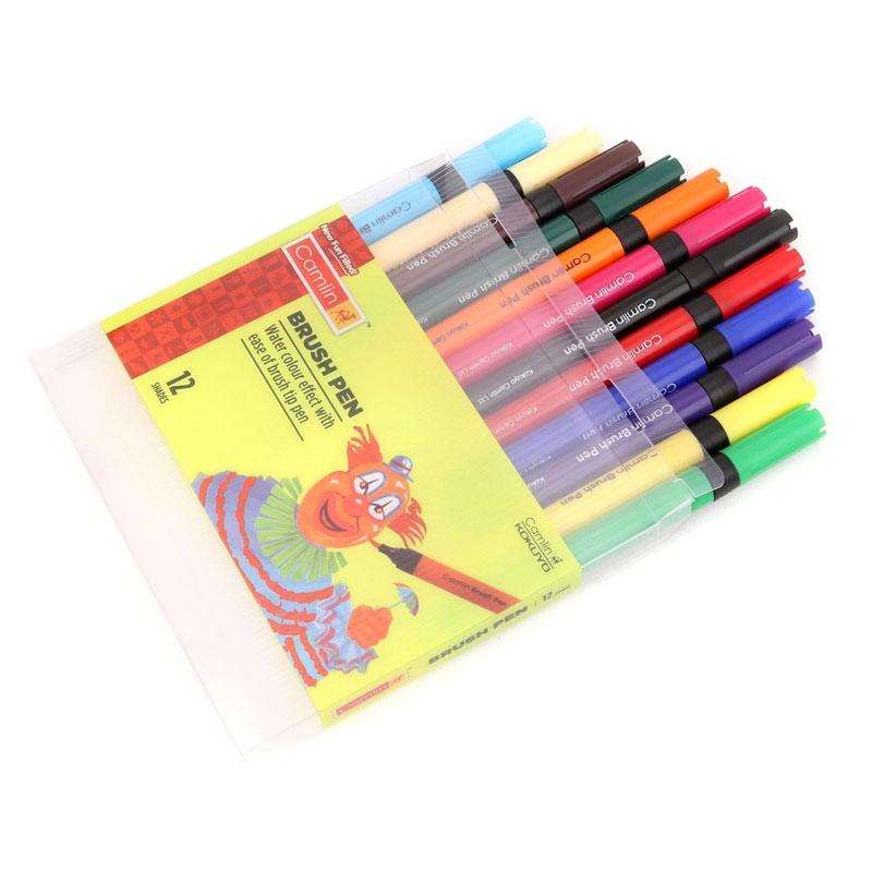 Camlin Brush Pen 12 Shades -