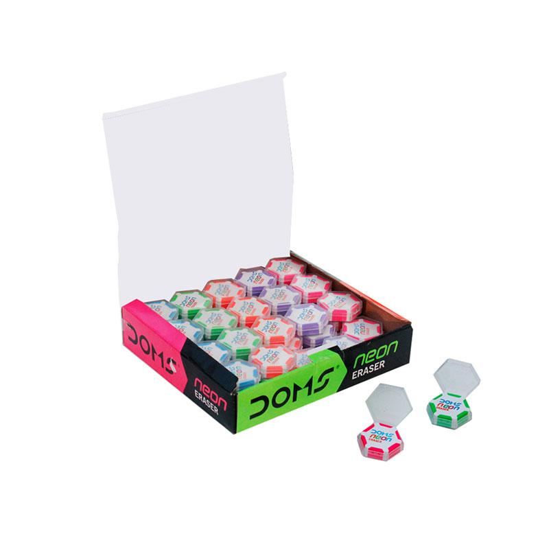 DOMS Neon Hex Eraser -