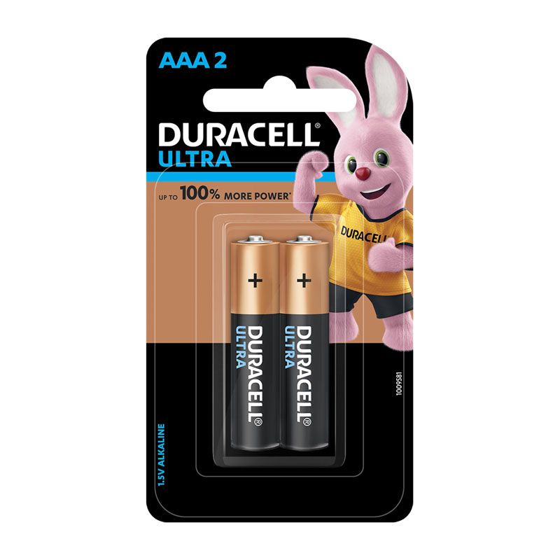 Duracell Ultra Power Alkaline Battery AAA (Pack of 2) -