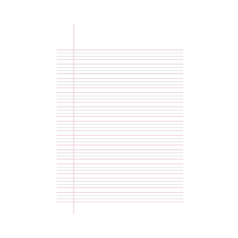 FS Writing Paper Four Line Double Sheet -