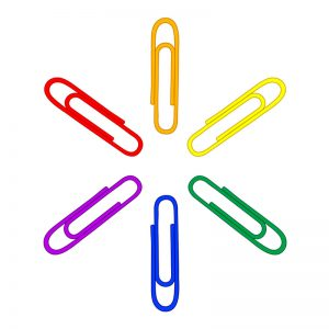 Colour Vinyl Coated Gem Clip (Paper Clip) -