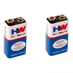 HW 9 Volt Zinc Carbon Battery -