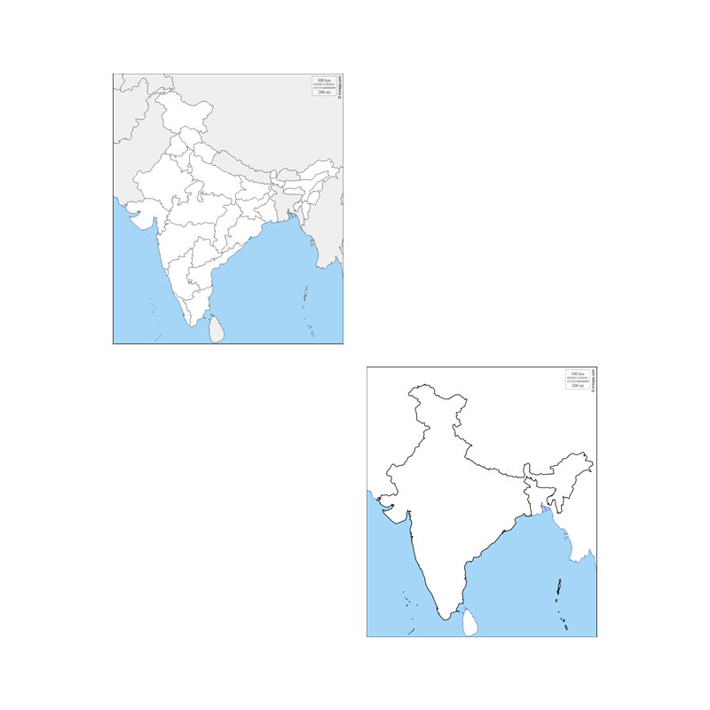 India Political/Physical Map -