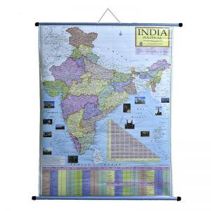 Wall Hanging Political Map of India -
