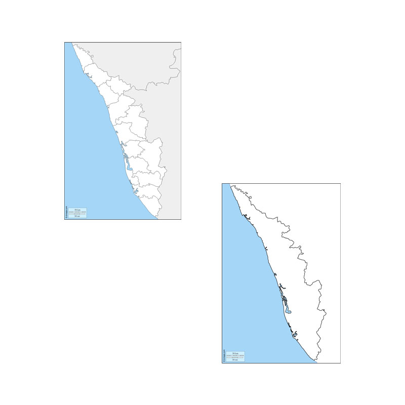 Kerala Political/Physical Map -