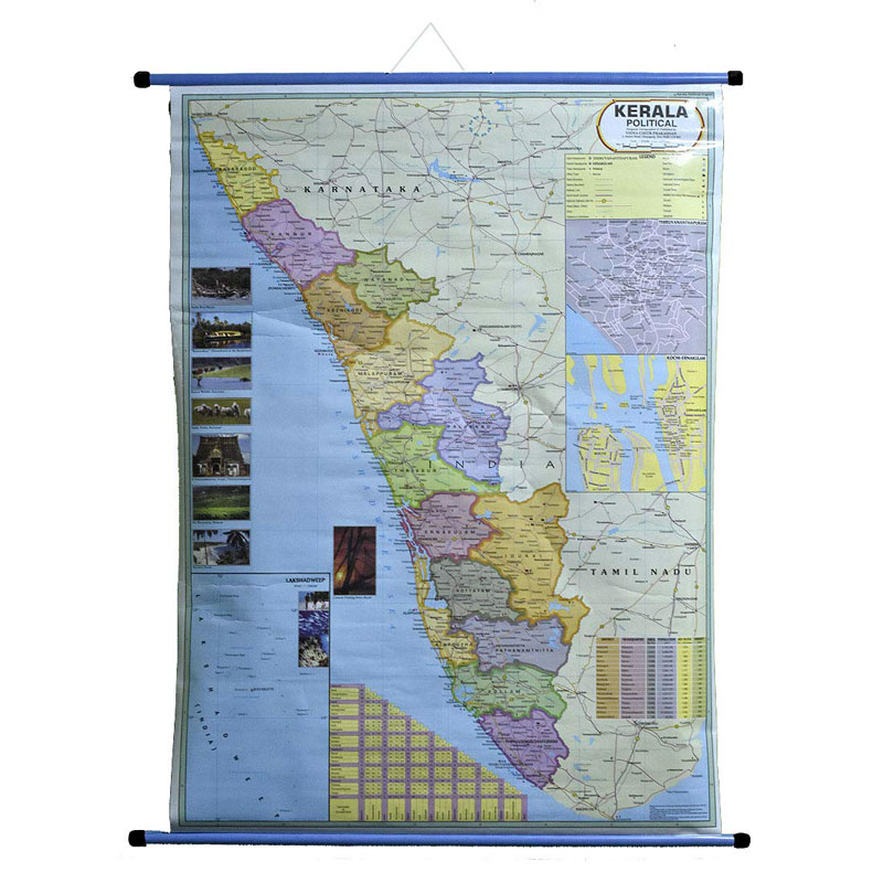 Wall Hanging Political Map of Kerala -