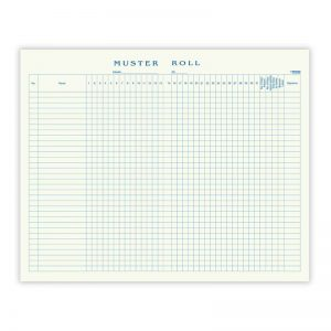 Muster Roll Register Long Size Soft Bound -