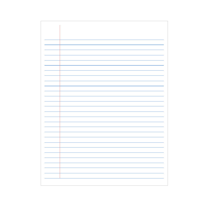 FS Writing Paper Ruled Double Sheet -