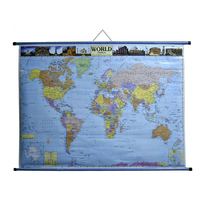 Wall Hanging Political Map of World -