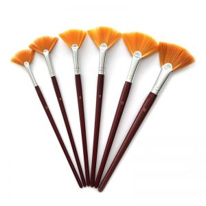 Fan Brush Set of Six