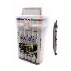 Double Side Marker Colour Pen Set of 12 (Alcohol Marker) -