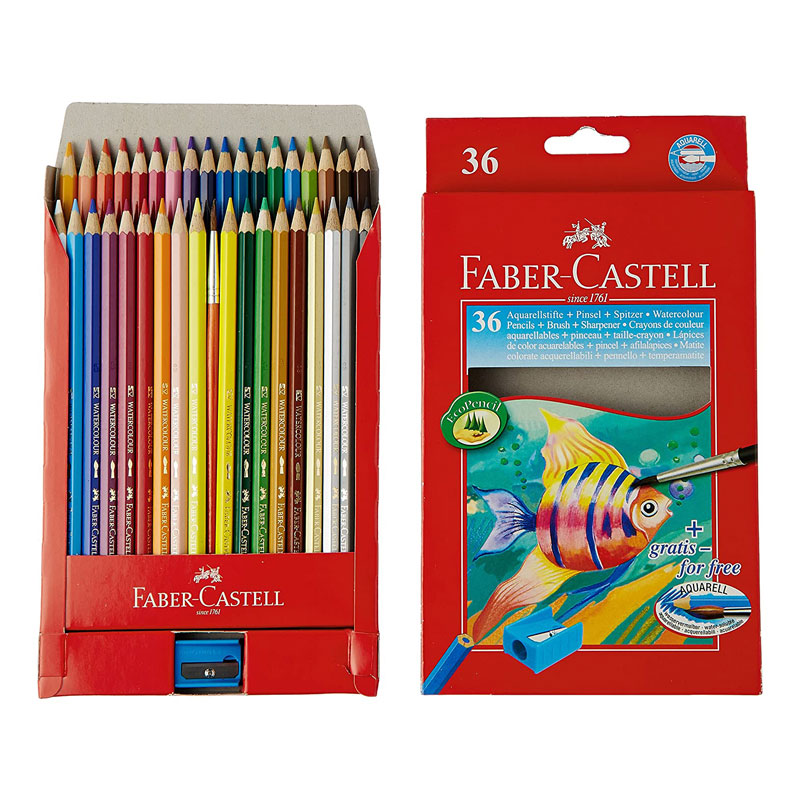 Colour Pencil 24 Shades Faber-Castell - August School & Office Stationery - Colour pencil from Faber-Castell iswith smooth colour rich leads & special bonding that offers good sharpenability & high break resistance.
