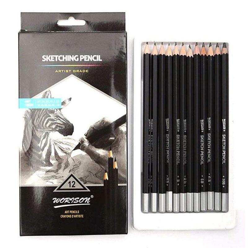 Worison Sketching/Drawing Pencil Set of 12 -