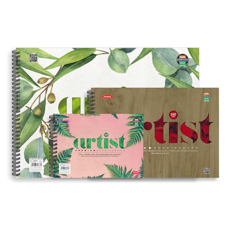 Premium Artist Sketch Book A3/A4/A5 Size 160 GSM