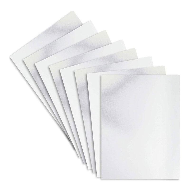 Metallic Silver Foil Sheet A4 Size
