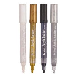 Acrylic Paint Marker Pen (Black | White | Gold | Silver)