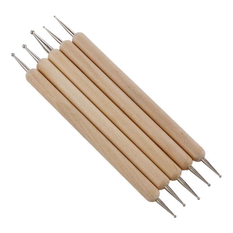 Wooden Dotting Tool Set of 5 -