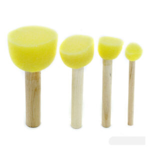 Yellow Sponge Brush Set of 4 (Sponge Dabber)
