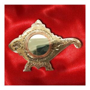 Aranmula Kannadi | Metal Mirror with Back Stand (Kavadi Shanghu)