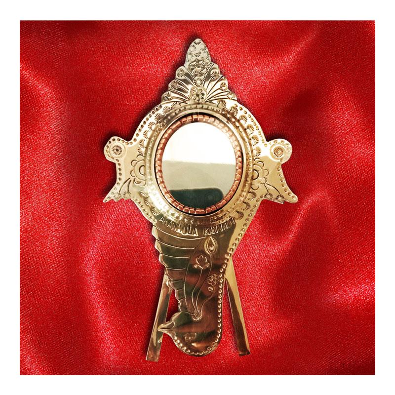 Aranmula Kannadi | Metal Mirror with Back Stand (Shanghu)