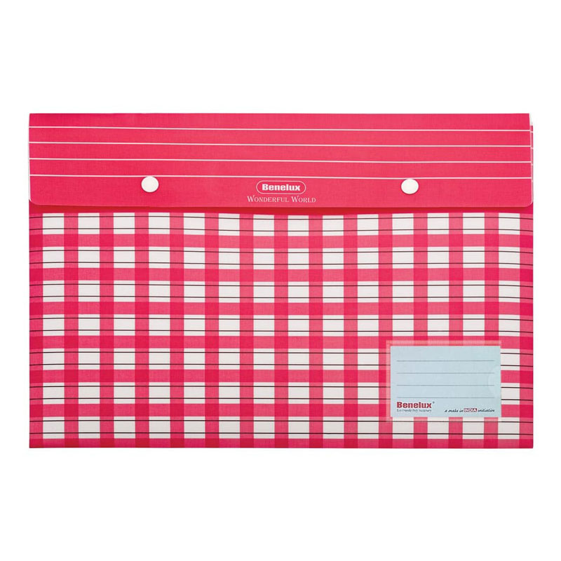 Durable and thick button file folder with two buttons