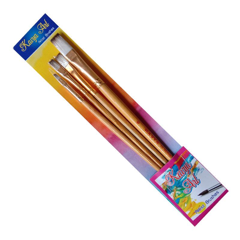 Handmade Flat Brush Set of 4
