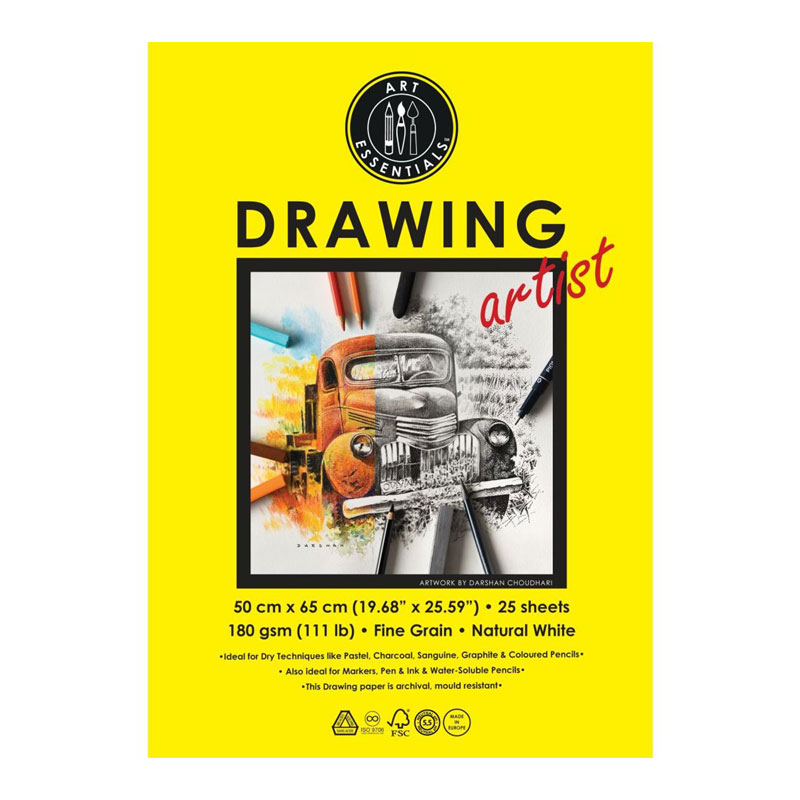 Art Essentials Drawing Artist Paper (50 cm x 65 cm) 180 GSM