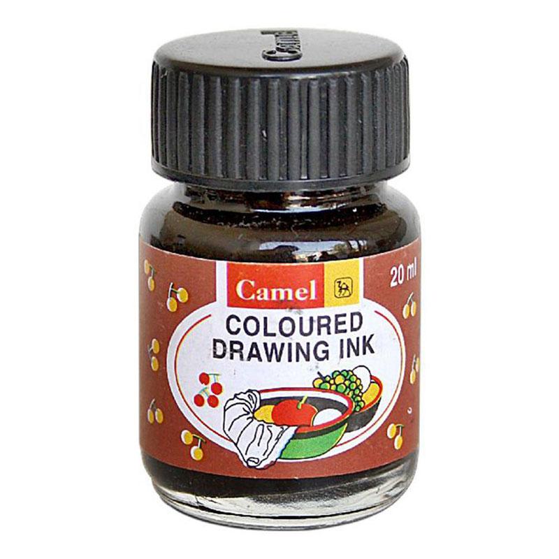 Camel Coloured Drawing Ink (black) (Indian Ink)