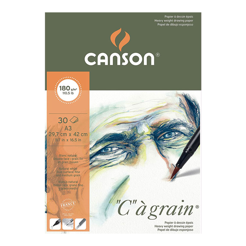 Canson C a' grain Drawing Paper A3 Size 180 GSM