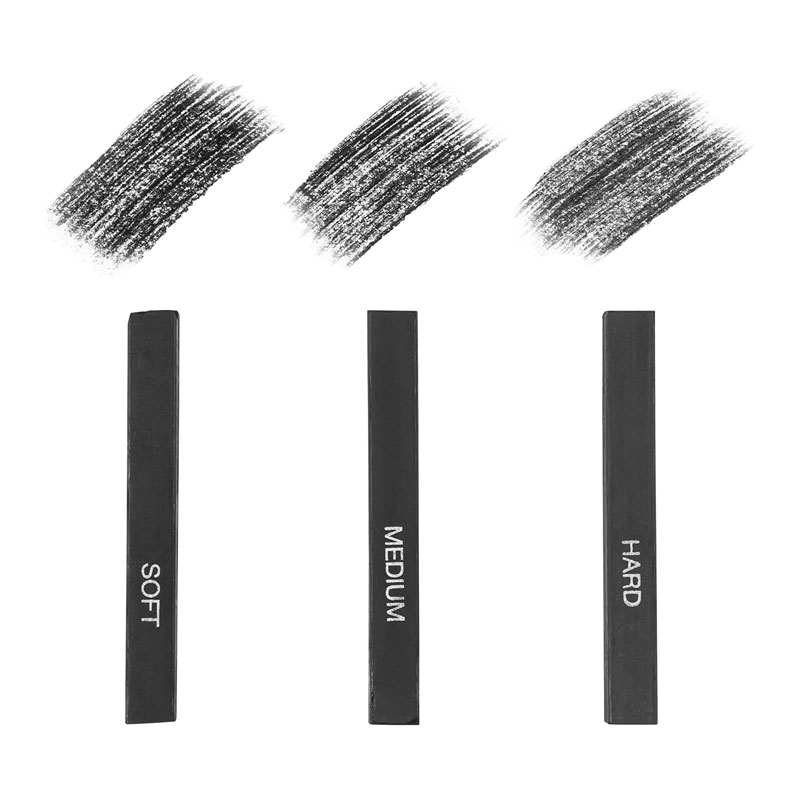 Compressed Charcoal Stick (Pack of 3)