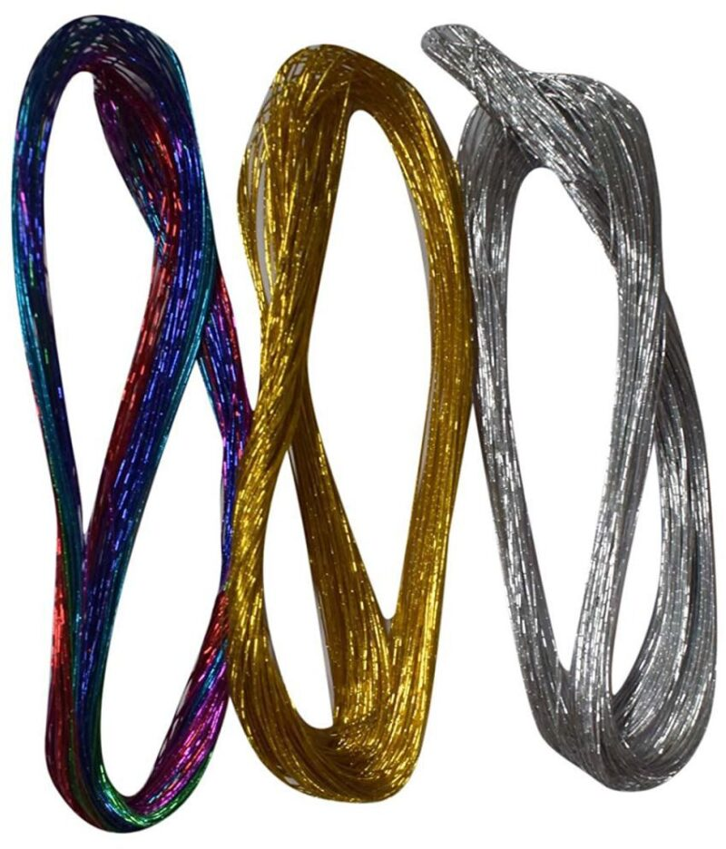 Flower making wire, flexible, gold and silver coloured