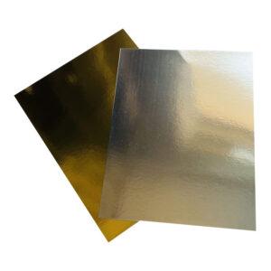Gold/Silver Metallic Mirror Finish A4 Size Card