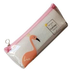 Flamingo Transparent Pencil Pouch