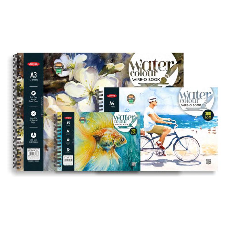 Watercolour Wire-O Book A4 Size 300 GSM