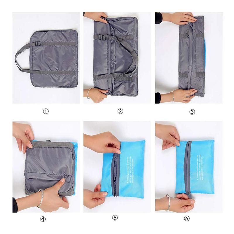 Foldable Shopping Bag/Travel Luggage Bag Folding Method