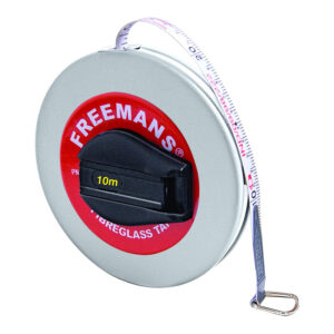 Freemans Leatherette 13mm Fibreglass Measuring Tape 10 Meters