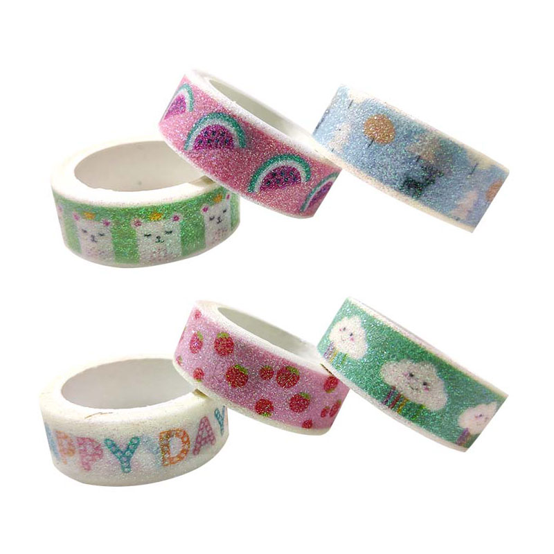 Glitter Printed Washi Tape Set of Three