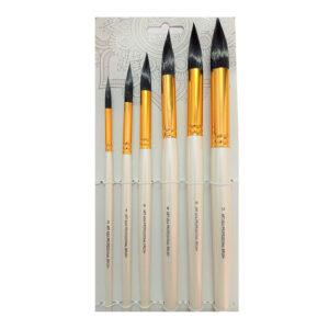 Watercolor Mop Brush Set of 6