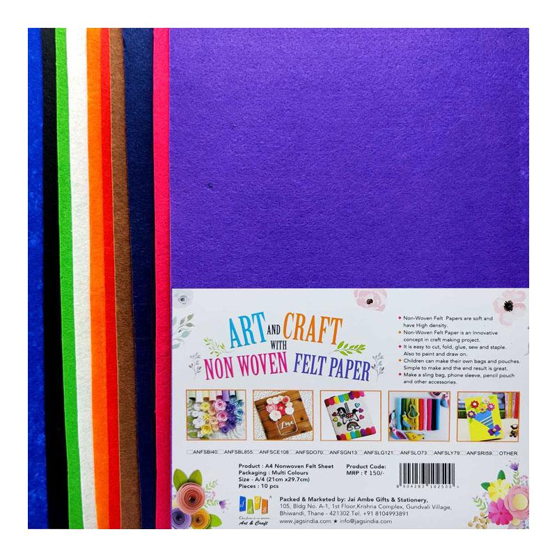 A4 Nonwoven Felt Sheet (Colour Selectable)