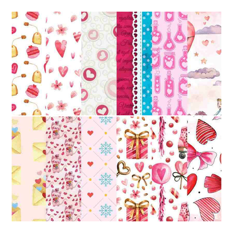 A4 Size Designer Craft Paper (Pattern Paper) (Love For Ever) Card Stock Paper