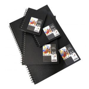 Brustro Artists' Portrait Sketch Book Wiro Bound 160 GSM (A3/A4/A5/A6)