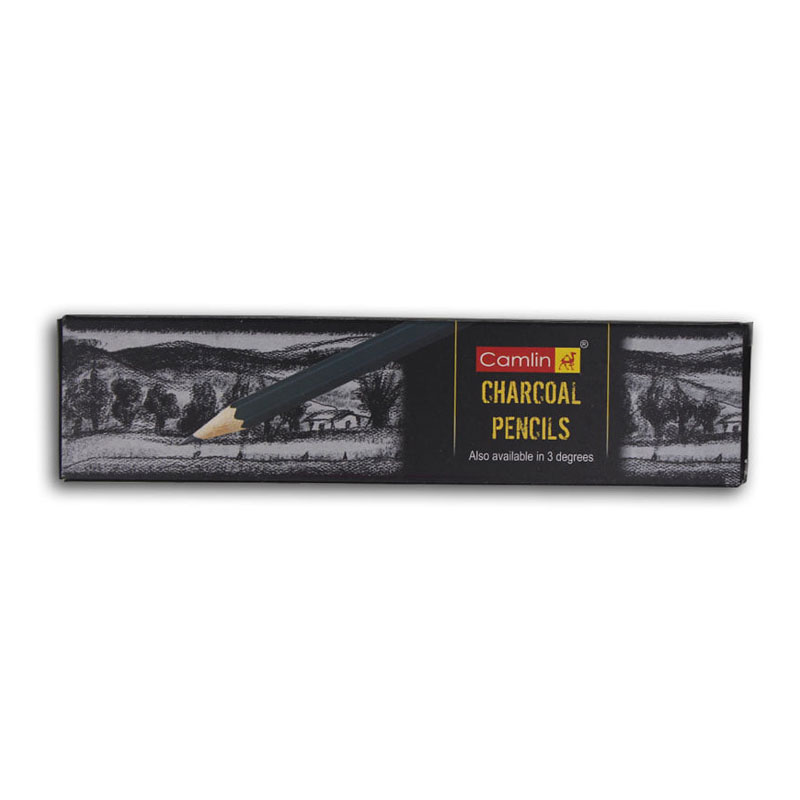 Camlin Black Charcoal Pencils (Soft/Medium/Hard)